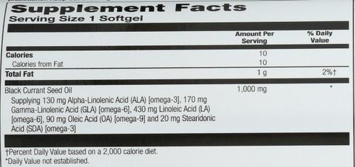 Black Currant Oil 30 Softgels 1000mg