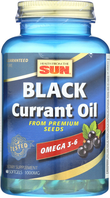Black Currant Oil 60 Soft Gels 1000mg