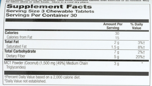 MCT Snack Chews, Coconut Orange Flavor 90 Chewable Tablets