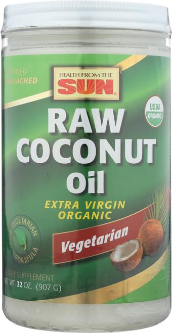 Coconut Oil, Raw Organic 32oz 907g