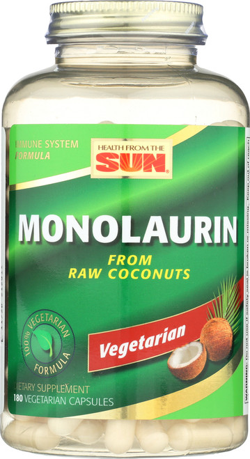 Monolaurin, From Raw Coconuts 180 Vegetarian Capsules