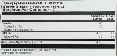 Black Seed Oil, Cold Pressed Natural 8 Fl oz 236mL
