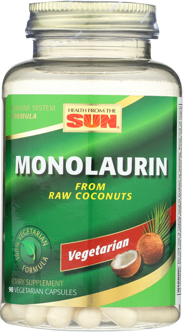 Monolaurin, From Raw Coconuts 90 Vegetarian Capsules