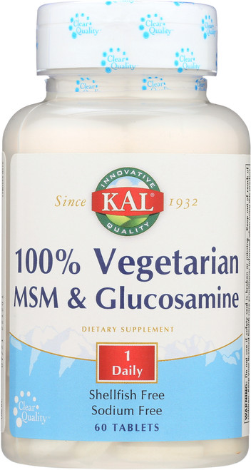 100% Vegetarian MSM & Glucosamine 60 Tablet