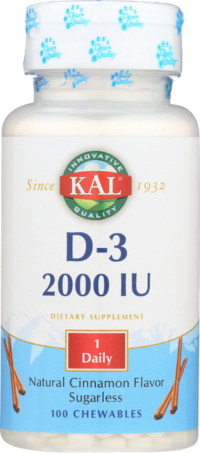 D-3 2000 IU Sugarless Cinnamon Chewable 100 Chewables