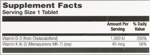 D-3 K-2 Activmelt Raspberry 60 Micro Tablets