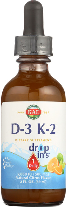 D-3 K-2 Dropins Emulsion Citrus 2 Fl oz 59mL