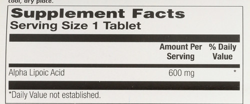 Alpha Lipoic Acid Sustained Release 60 Tablet