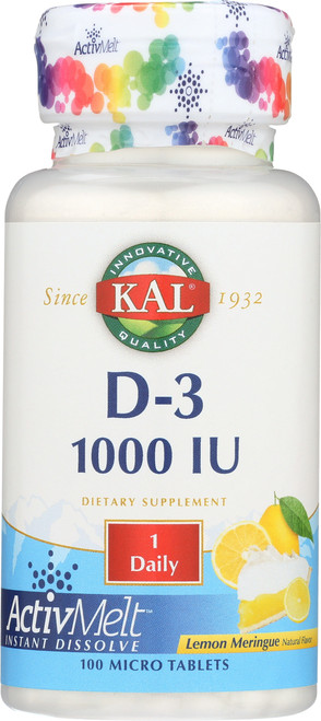 D-3 1000 IU Activmelt™ Lemon 100 Tablet