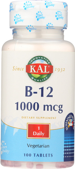 B-12 Sustained Release 1000mcg 100 Tablet