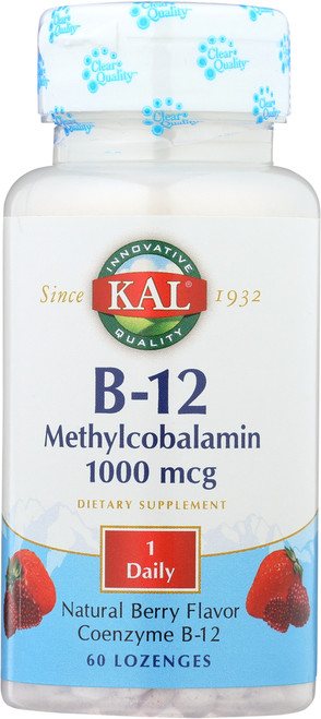 B-12 Methylcobalamin Berry 60 Lozenges