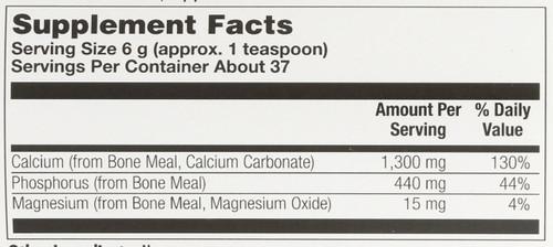 Bone Meal Powder Unflavored 8oz 227g