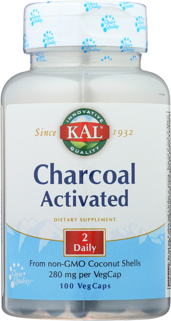 Charcoal Activated 100 Vegetarian Capsules