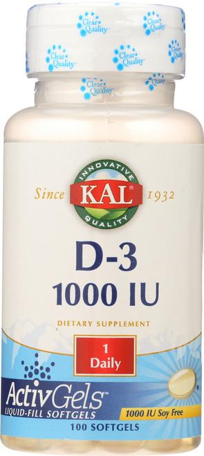 D-3 1000 IU Activgels 1000 IU 100 Softgels