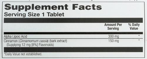 Alpha Lipoic Acid Cinnamon 60 Tablet