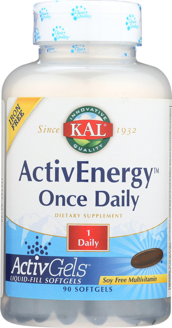 Activenergy Once Daily Activgels Iron Free 90 Softgels