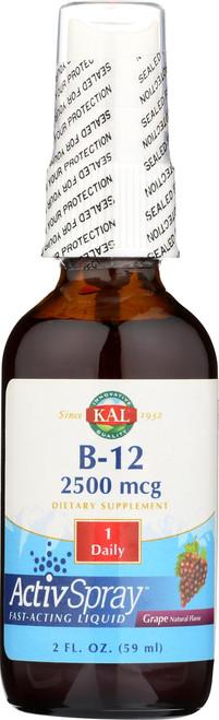 B-12 Activspray Grape 2 Fl oz 59mL