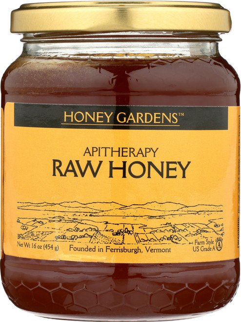 Apitherapy Raw Honey Natural 16oz 454g