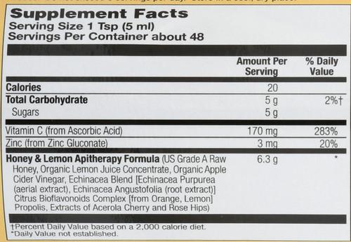 Syrup - Honey & Lemon 8 Fl oz 240mL