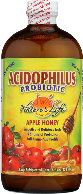 Apple-Honey Acidophilus 16 Fl oz 474mL