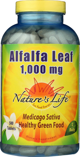 Alfalfa Leaf, 1,000mg 500 Tablet
