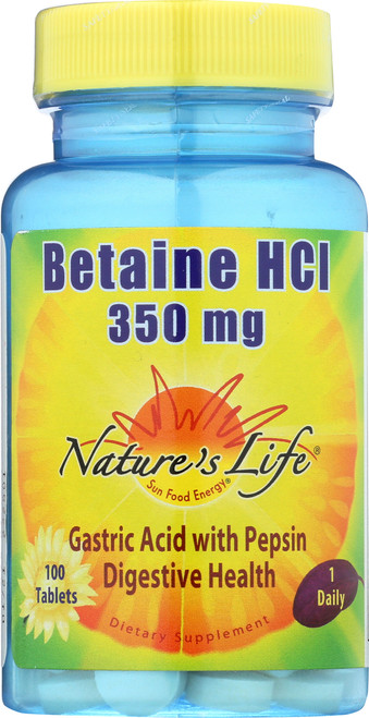 Betaine HCL, 350mg 100 Tablet