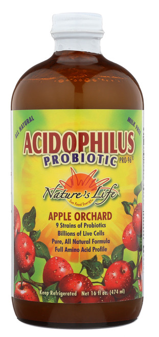 Acidophilus Pro-96 Apple Acidophilus 16 Fl oz 474mL