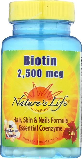 Biotin 2,500mcg 100 Vegetarian Capsules