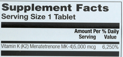 Vitamin K-2 5,000mcg 60 Tablet
