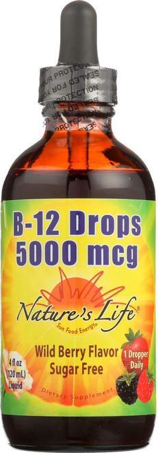 B-12 Drops, Methlycobalamin Wildberry 4 Fl oz 120mL