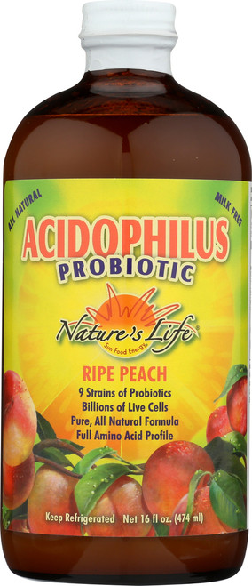 Acidophilus Probiotic Ripe Peach 16 Fl oz 474mL