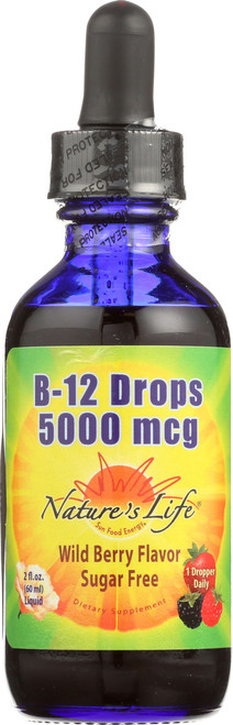 B-12 Drops, Methlycobalamin Wildberry 2 Fl oz 60mL