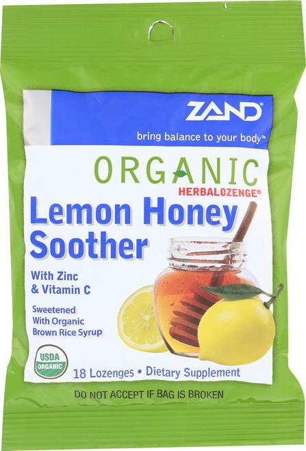 Organic Herbalozenge Lemon Honey Soother 18 Lozenges