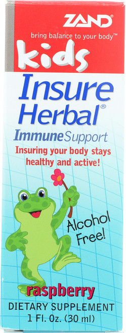 Insure Herbal Immune Support Raspberry - Kids 1 Fl oz 30mL