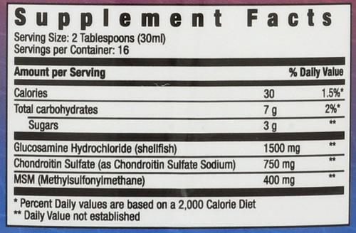 Liquid Glucosamine Mixed Berry - Great Tasting Berry Flavor 16 Fl oz 480mL