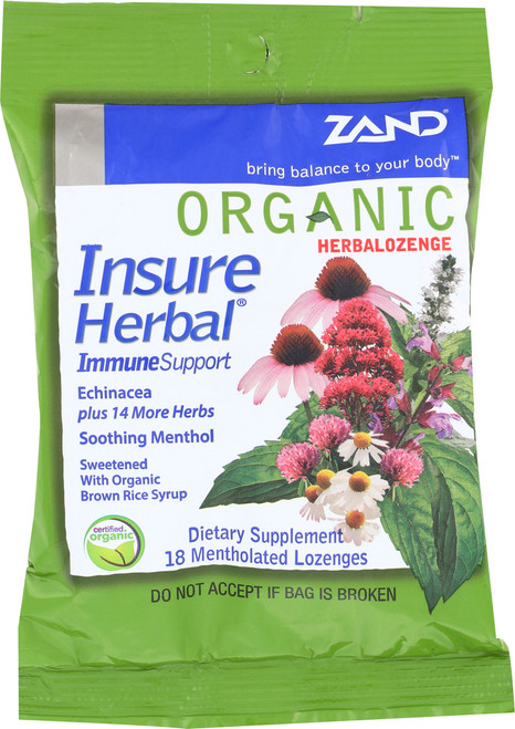 Organic Herbalozenge Insure 18 Lozenges