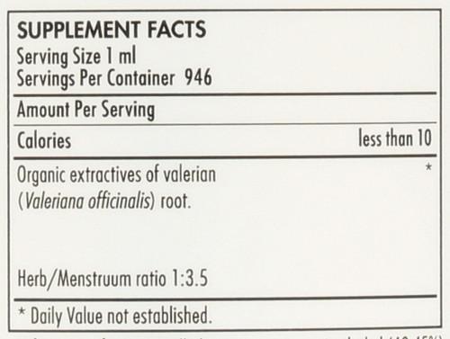 Valerian Extract Organic 32 Fl oz 946mL