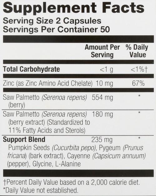 Saw Palmetto Plus For Men 100 Vegetarian Capsules