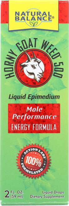 Horny Goat Weed™ 500 Unflavored Liquid Drops Liquid Epimedium 2 Fl oz 59mL