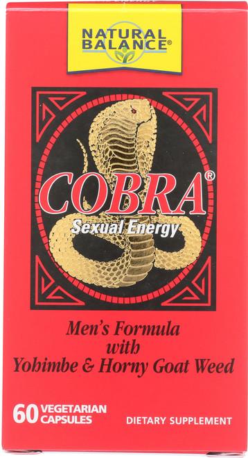 Cobra Men's Formula With Yohimbe & Horny Goat Weed 60 Vegetarian Capsules