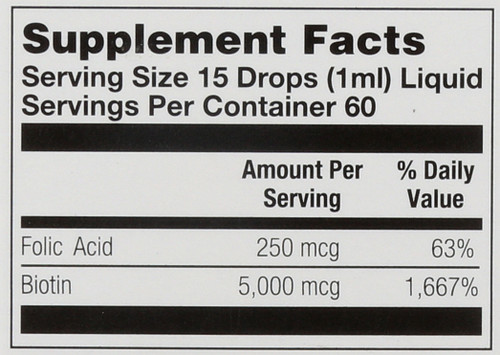 Biotin, Liquid Citrus 2 Fl oz 60mL