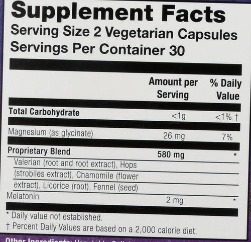 Herbal Slumber 60 Vegetarian Capsules