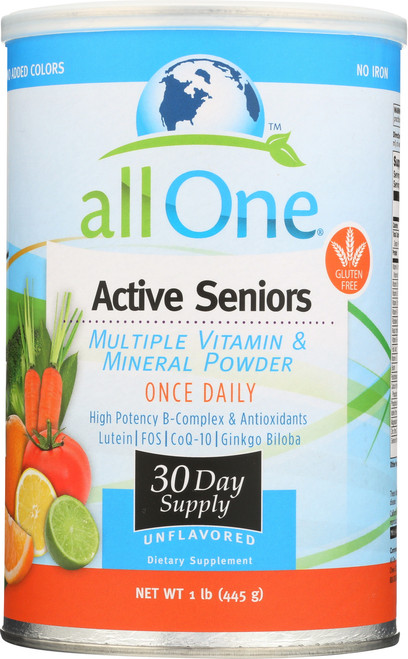 Active Seniors - 30 Day Supply Multiple Vitamin & Mineral Powder 1 Lb 445g