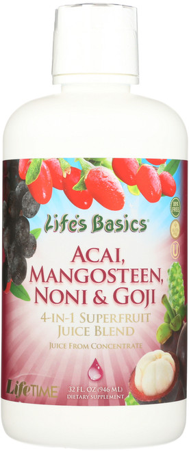 Noni, Mangosteen, Goji, Acai Mixed Fruit 32 Fl oz 946mL