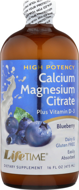 Cal Mag Citrate Hi-Potency Blueberry Blueberry 16 Fl oz 473mL