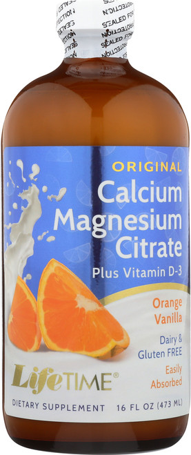 Cal Mag Citrate Phosphorus Free Orange Vanilla 16 Fl oz 473mL