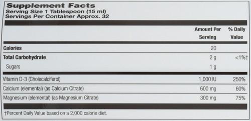 Calcium Magnesium Citrate Strawberry 16 Fl oz 473mL
