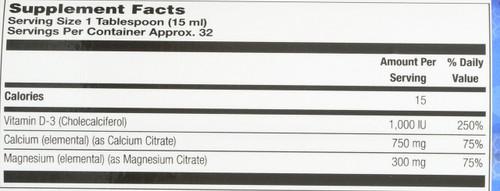 Cal Mag Citrate Hi-Potency Sugar Free Piña Colada 16 Fl oz 473mL