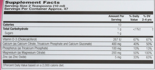 Kids' Calcium Magnesium Citrate Mixed Fruit Kids Calcium Magnesium 16 Fl oz 473mL