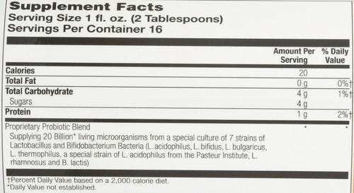 Acidophilus w/FOS Coconut Mango 16 Fl oz 473mL